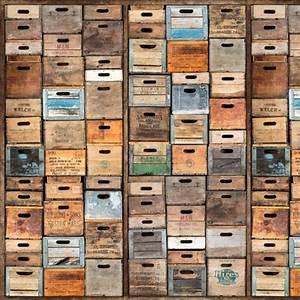 Papier Peint Style Industriel : papier peint style industriel anciennes caisses en bois ~ Dailycaller-alerts.com Idées de Décoration