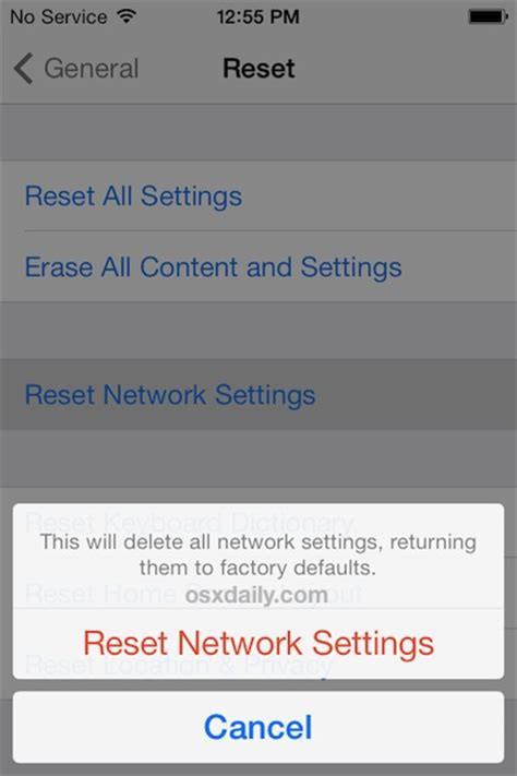 reset network settings iphone how to clear flush dns cache on iphone