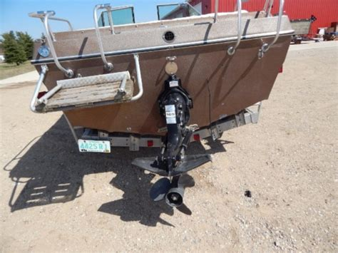 Boat Auction Traverse by Lot 1006 Z 18ft Boat And Trailer Quot Two Way Auction Item Quot