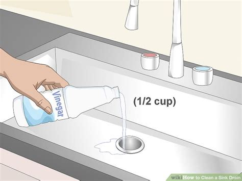 how to clean a kitchen sink drain 3 ways to clean a sink drain wikihow 9321