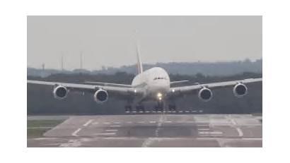 Landing While Crosswind Plane Flight Flying Airbus