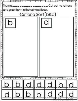 dyslexia worksheets help with b d p and q reversals b 308 | fa73b1847916926e678054476cdc8814