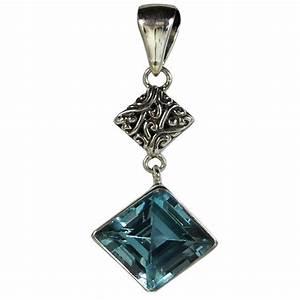 Pierre Precieuse Bleue : pendentif articul avec losange en pierre de topaze bleue ~ Melissatoandfro.com Idées de Décoration