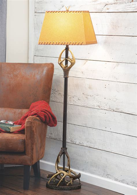 Buck Mountain Antler Floor Lamp