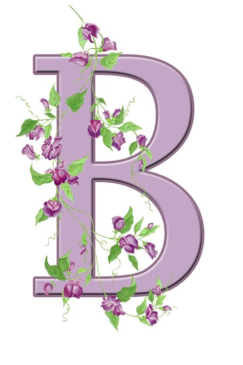 letter b floral initial free stock photo public domain