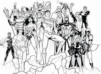 Coloring Dc Justice League Comics Breathtaking Getdrawings