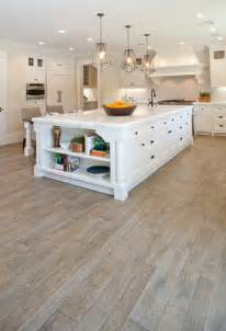 White Kitchen with Oak Hardwood Floors