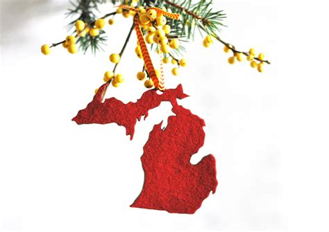 christmas ornament michigan christmas ornament gift for the