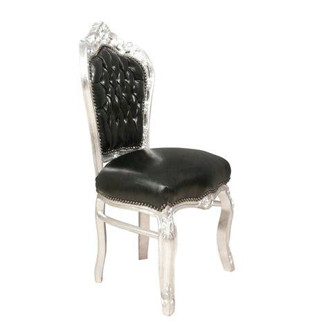 chaises baroque chaise baroque et argent en simili cuir