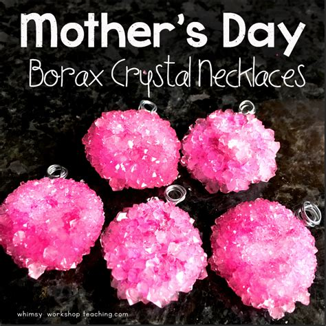 mothers day gift borax crystal necklaces whimsy