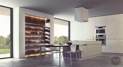 vin et cuisine une cave à vin contemporaine qui s 39 intègre parfaitement