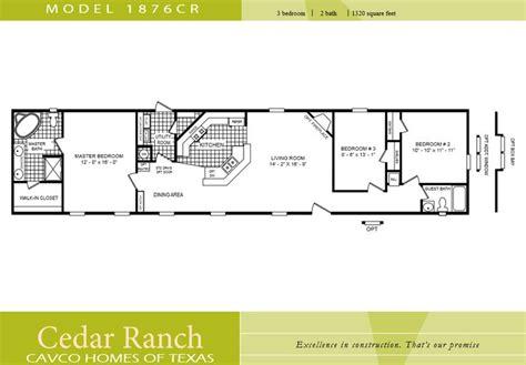 2 bedroom 1 bath mobile home floor plans scotbilt mobile home floor plans singelwide cavco homes