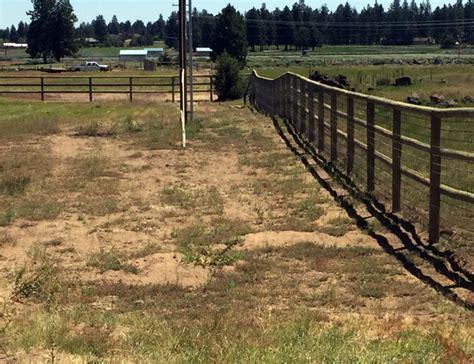 Pole Fence And Gate
