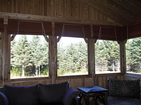 canvas porch roller curtains privacy shade protection sunbrella pyc awnings