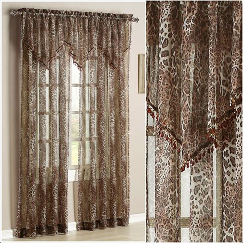 leopard print sheer curtains  page home design