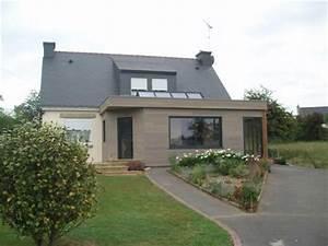 charmant agrandissement maison toit plat 3 extensions With agrandissement maison toit plat