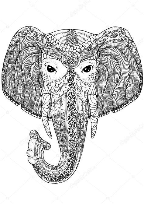 Mandala Kleurplaten Olifant by Boek Kleurplaat Voor Volwassenen Olifant Stockvector