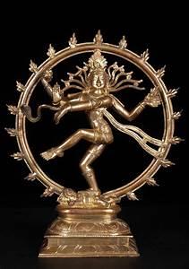 "SOLD Golden Nataraja Bronze Statue 10"" (#57b12f): Hindu ..."