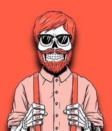 hipster skeleton wallpapers