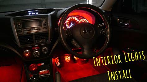 subaru wrx interior led lights install youtube