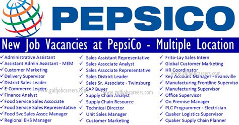 New Job Vacancies At Pepsico