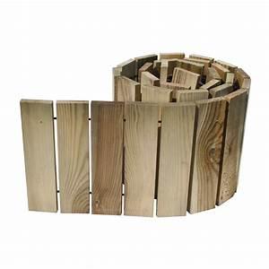 Bordure Bois Leroy Merlin : bordure d rouler bois naturel x cm leroy ~ Dailycaller-alerts.com Idées de Décoration