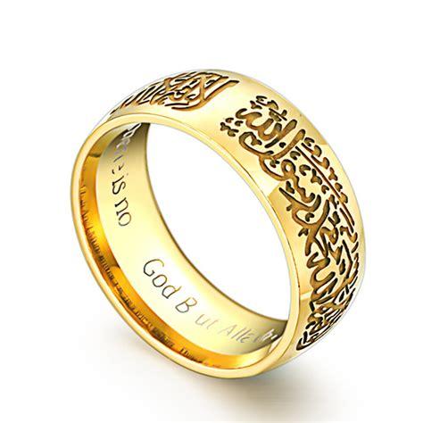 gold mohammad rasool allah rings stainless steel islamic rings for engagement rings rings