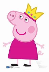 Princess Peppa Pig Mini Cardboard Cutout / Standee