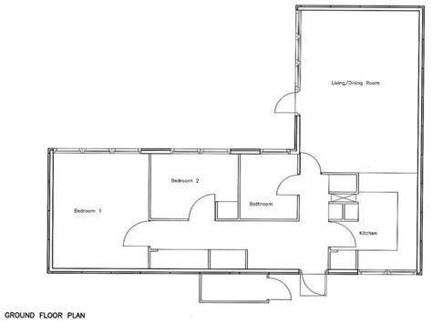 bedroom bungalow floor plan  story bungalow house plans