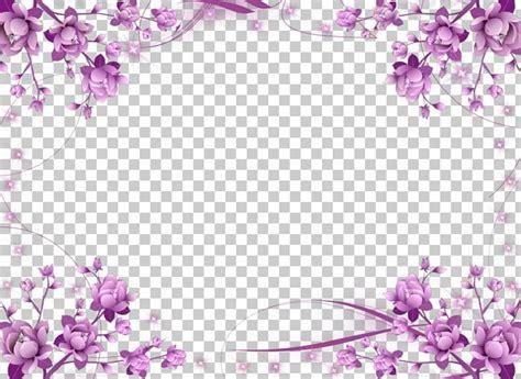wedding invitation frame flower purple png clipart blossom border border frames cherry