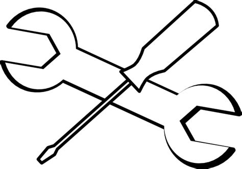tool kit clipart black and white tools clip free clipart best