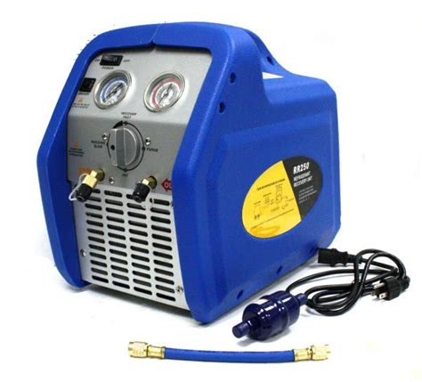 Rr250 Portable Ac Refrigerant Recovery Machine 3/4hp 4