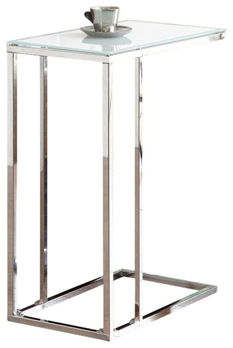 frosted glass end table modern frosted tempered glass top chrome metal accent end