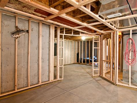 Frame Basement Walls what are the primary concerns with renovating a basement