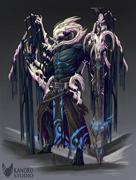 demonic aatrox league  legends fan art art  lol