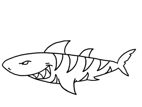 Great White Shark Coloring Pages Eskayalitim