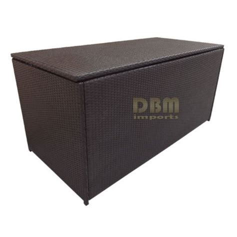 64 large wicker patio deck pool storage box chest trunk