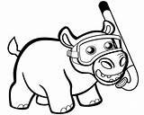 Hippo Coloring Snorkel Colorear Printable Hipopotam Cartoon Drawing Hipopotamo Dibujo Hippopotamus Sheet Kolorowanka Onlinecoloringpages Preschool Template Drukuj sketch template