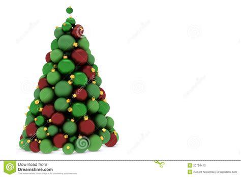 christmas tree made of christmas tree balls stock