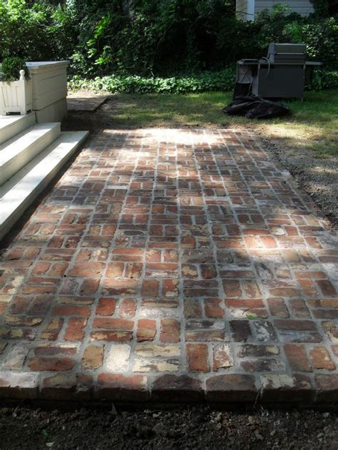 backyard brick reclaimed brick patio reminder to reuse the bricks from the old stack chimney architectural