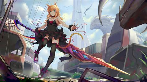 anime women sword  laptop full hd p hd