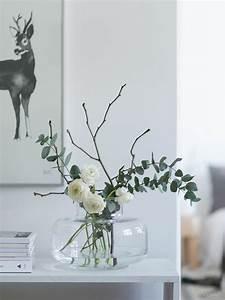 Zweige Weiß Ansprühen : vase glas schlicht blumen eukalyptus zweige wei modern minimalistisch deko gr n interior design ~ Orissabook.com Haus und Dekorationen