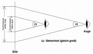 Sehwinkel Berechnen : sch rfentiefe maximal zul ssigen ~ Themetempest.com Abrechnung