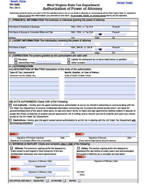 virginia power of attorney form pdf west virginia tax power of attorney form power of