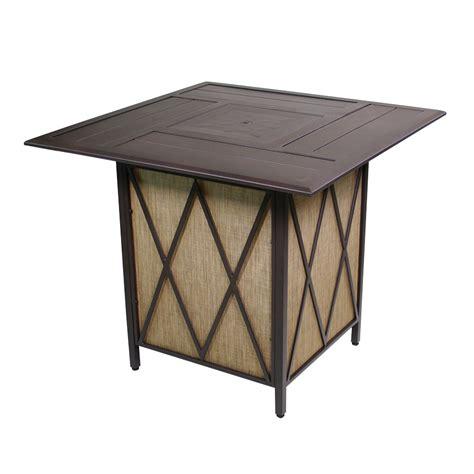 Courtyard Creations Patio Table Shop Courtyard Creations 42 3 In W 37 000 Btu Black Walnut