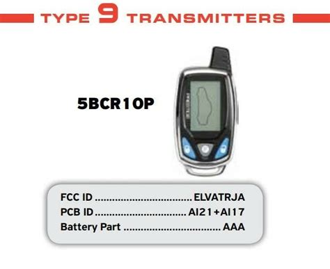 Prestige 2 Way Lcd Car Replacement Remote 5bcr10p 5bcr1op
