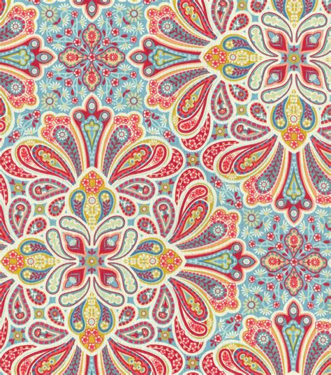 print fabrics 45 home essentials print fabric paisley medallion colonial jo ann