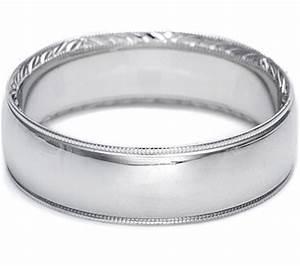 Tacori Hand Engraved Mens Wedding Band 65mm 2558