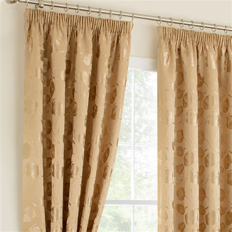 linby gold ready mades pencil pleat curtains pencil