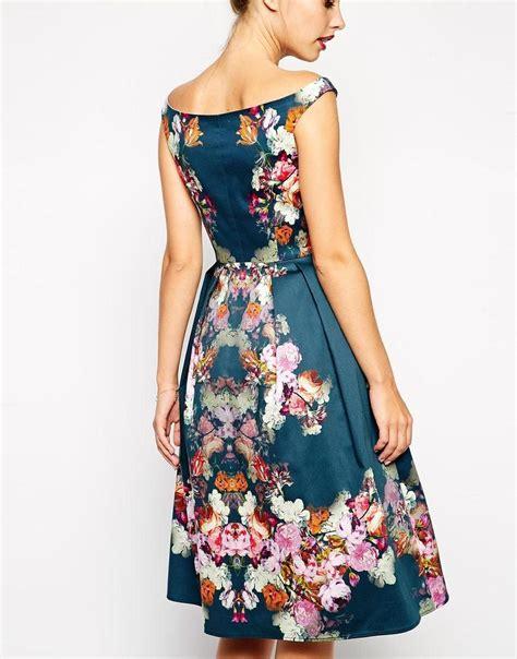 asos asos vintage midi bardot dress  asos fabric